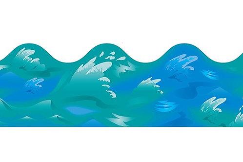 Ocean Waves Scalloped Border
