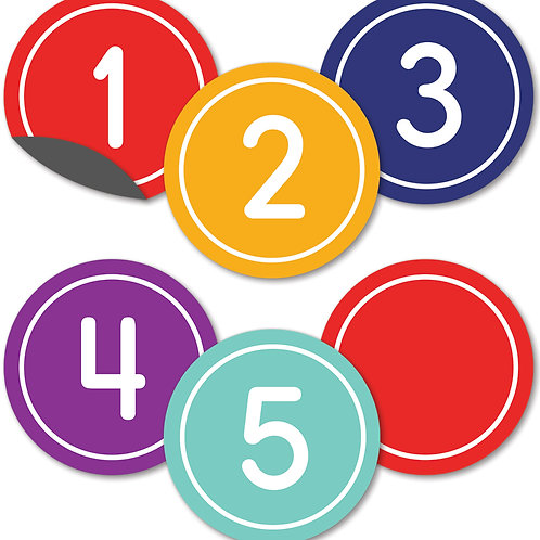 Classic Numbers Magnetic Cut-Outs