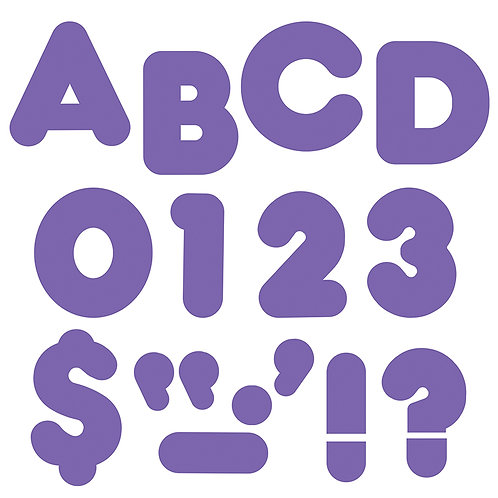 Ready Letters Purple 4-Inch Casual Uppercase