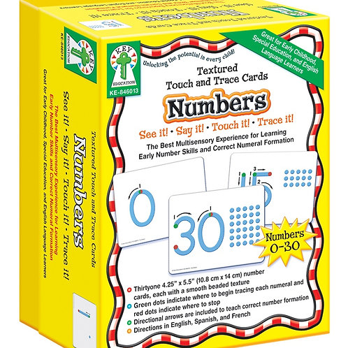 Save Share Textured Touch and Trace: Numbers Manipulative