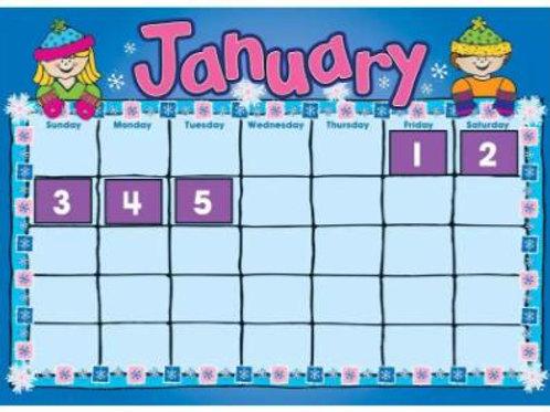 D.J. Kids Calendar Bulletin Board Set