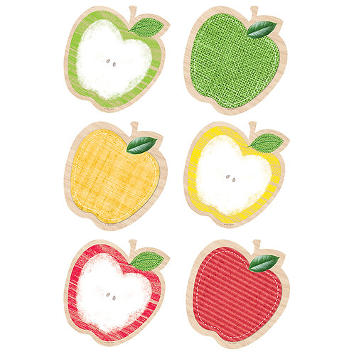 """Upcycle Style Apples 6"""" Designer Cut-Outs"""