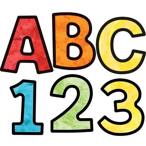 Watercolor Combo Pack EZ Letters   4 INCH