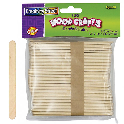 Craft Sticks Natural   150 Ct