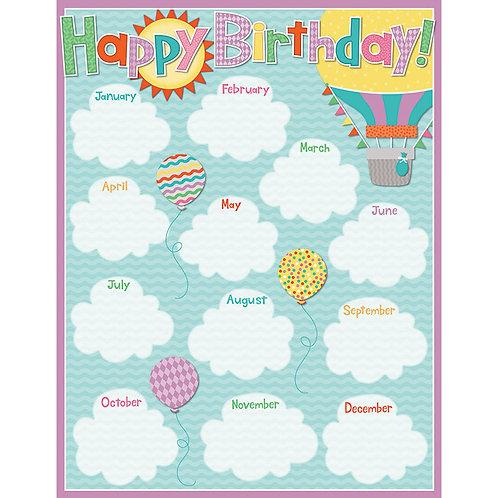 Soar to Success Birthday Chart