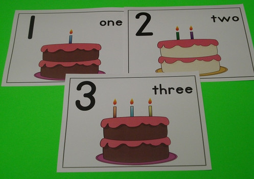 TTTs Flashcards With Cake And Candles Made Learning Fun Children Learn Numbers 1 10 Well As The Number Concept Word Size Is 81 2 X 11