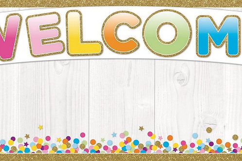 "Confetti Smart Poly™ Welcome Banner 9""x24"""