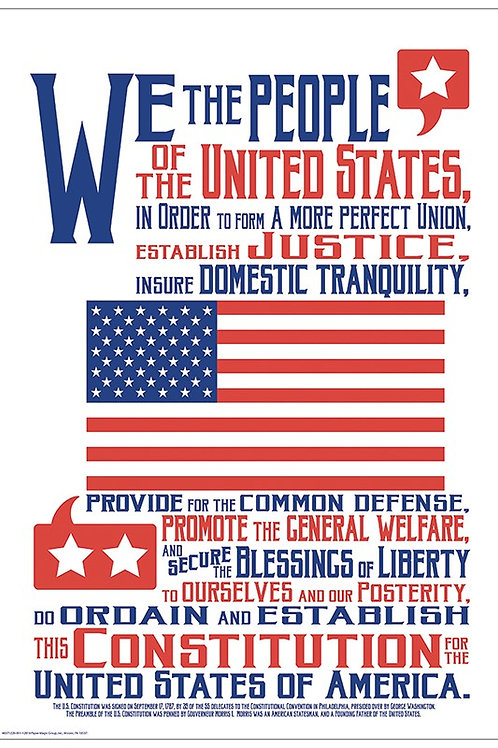 "Constitution Poster 13"" x 19"""