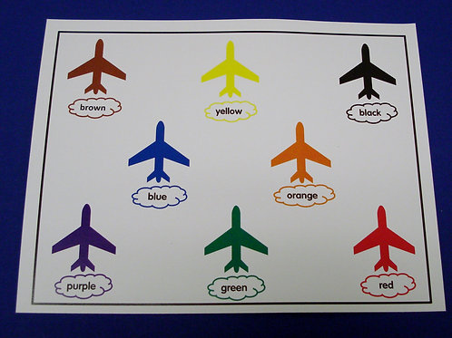 Reviewing My Colors Airplanes - Single