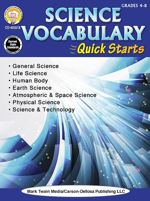 Science Vocabulary Quick Starts Workbook
