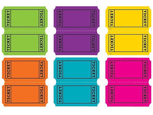 Bright Colors Tickets Mini Accents