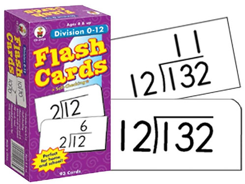 Division Flashcards 0-12