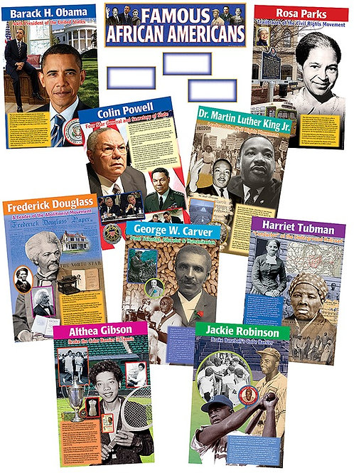 Famous African Americans Bulletin Board Set