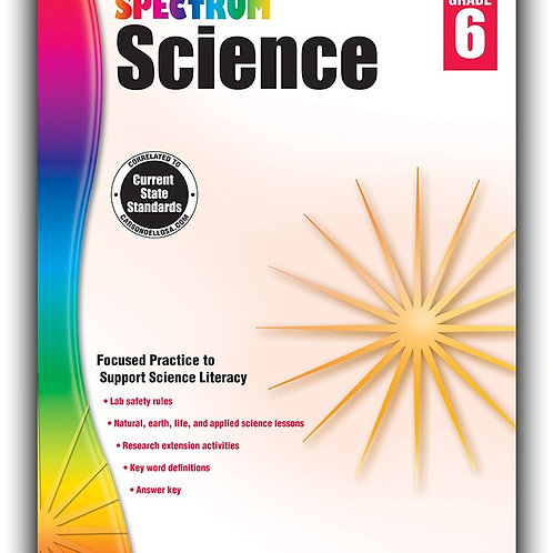 Spectrum Science Workbook Gr 6