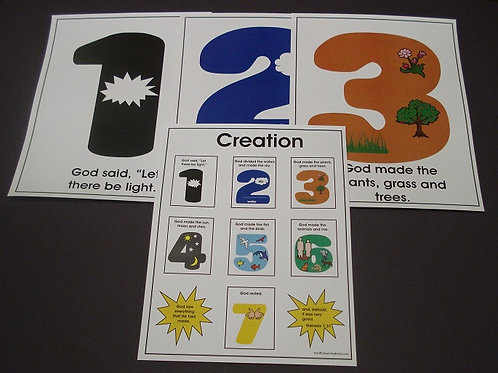Creation Flashcards with Numbers