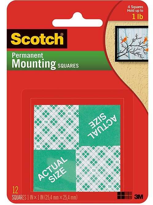 MOUNTING SQUARES 1 INCH
