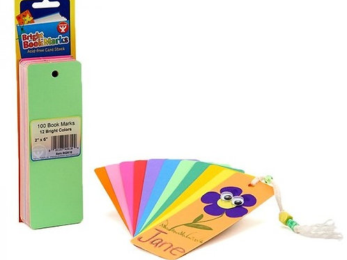 Bright Blank Bookmarks