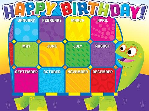 Happy Birthday Turtle Chart