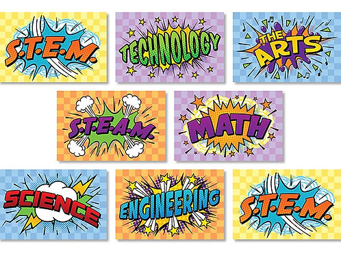 STEM & STEAM Bulletin Board Set