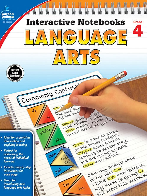 Interactive Notebooks: Language Arts Gr 4