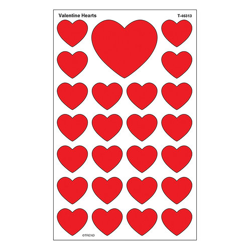 Valentine Hearts SuperShapes Stickers