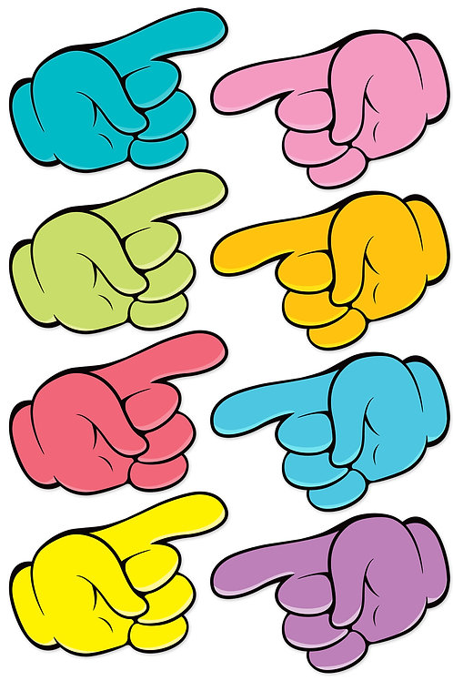 Finger Pointer Magnetic Cutouts