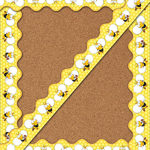Buzz–Worthy Bees Scalloped Borders