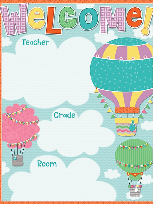 Up Up & Away Welcome Chart