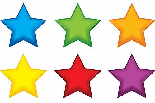Colorful Stars Mini Accents