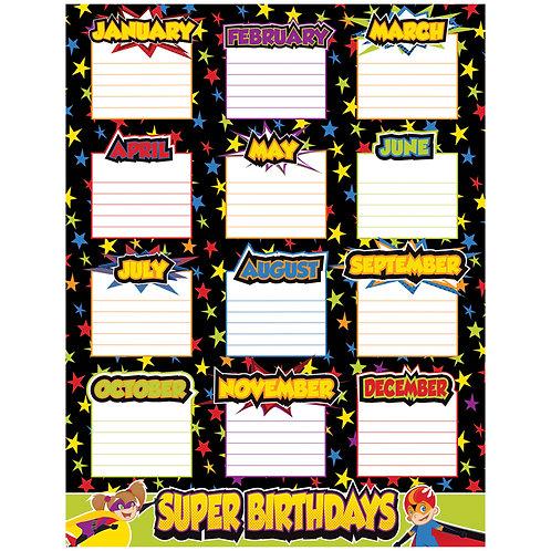 Super Power Birthday Chart