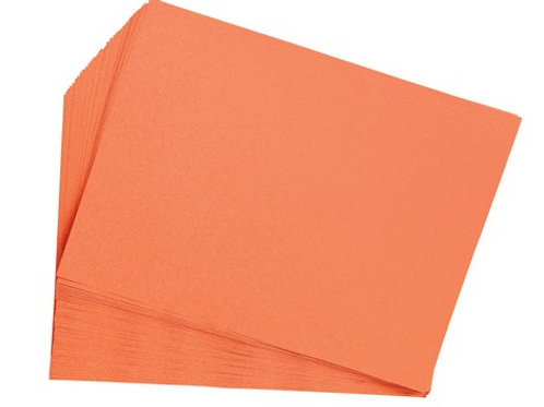 "Orange Construction Paper  9"" x 12""  50 pack"