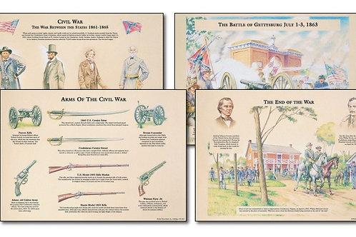 Civil War Bulletin Board Set