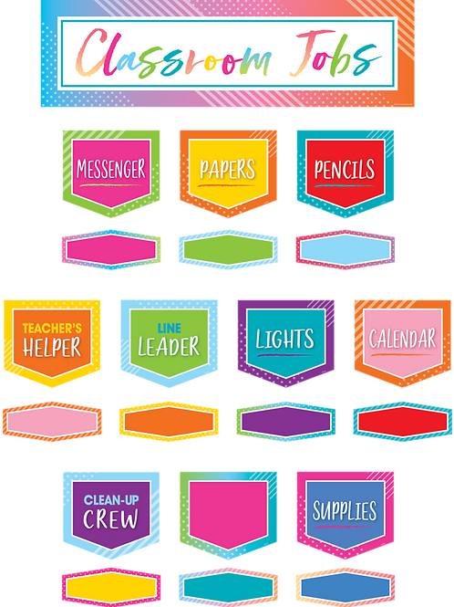 Colorful Vibes Classroom Jobs