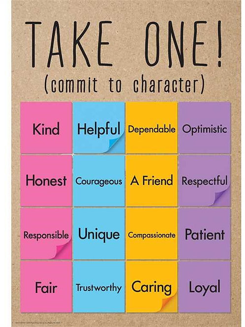 Take One Classroom Poster