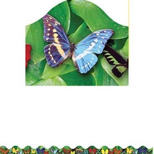 Butterflies Photo Border, Scalloped