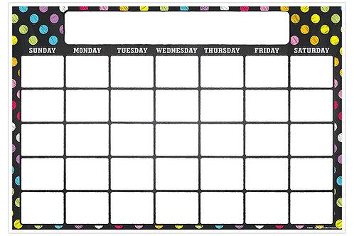 Neon Chalk Calendar Smart Chart