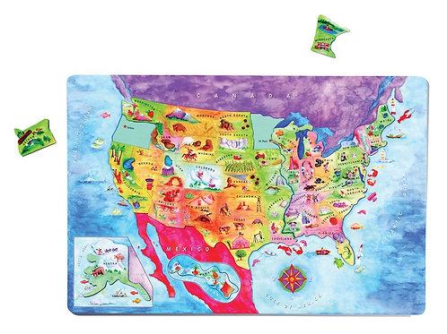US Magnetic Puzzle