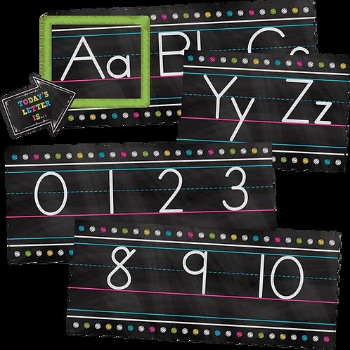 Chalkboard Brights Alphabet Line