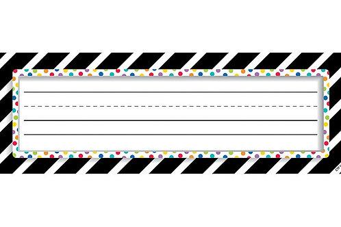 Bold & Bright Bold Stripes & Dots Name Plates
