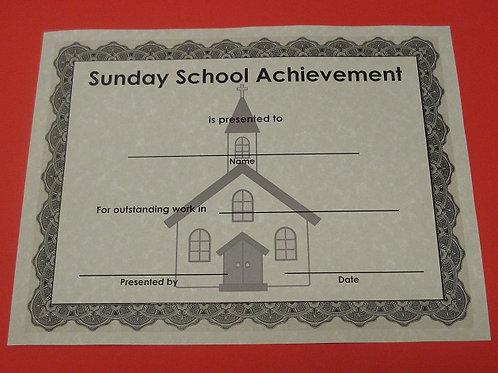 Sunday School Achievement Award