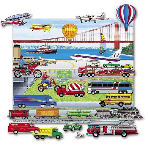 Trucks, Trains & Planes, Add-On Set-Felt