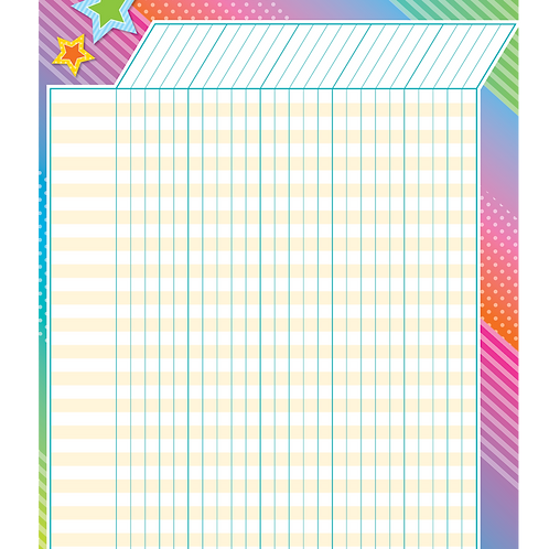 Colorful Vibes Incentive Chart