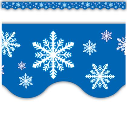 Snowflakes Scalloped Border