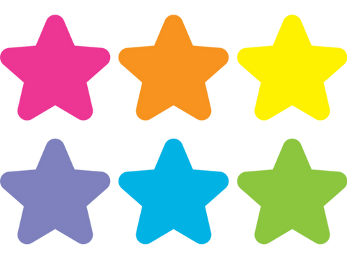Bright Stars Carpet Markers - 4""