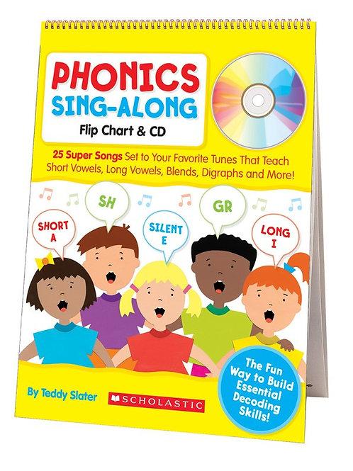 Phonics Sing Along Flip Chart with CD