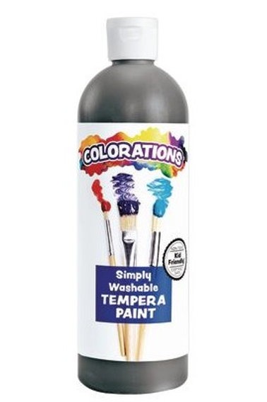 Black Washable Tempera, 16oz