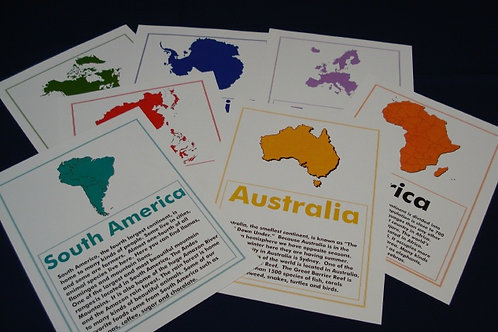CONTINENT FLASHCARDS