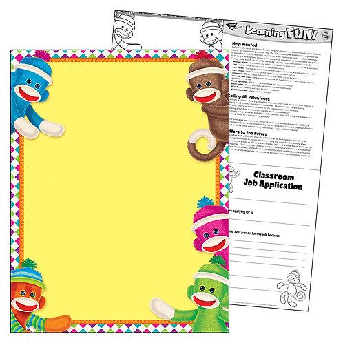 Sock Monkeys Learning Chart