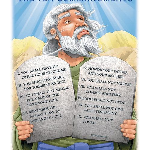 The Ten Commandments Chart