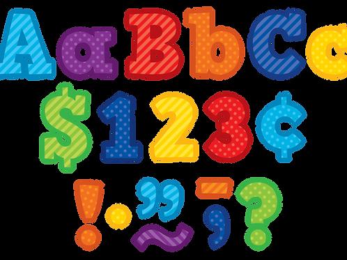 "Playful Patterns Bold Block 3"" Letters"